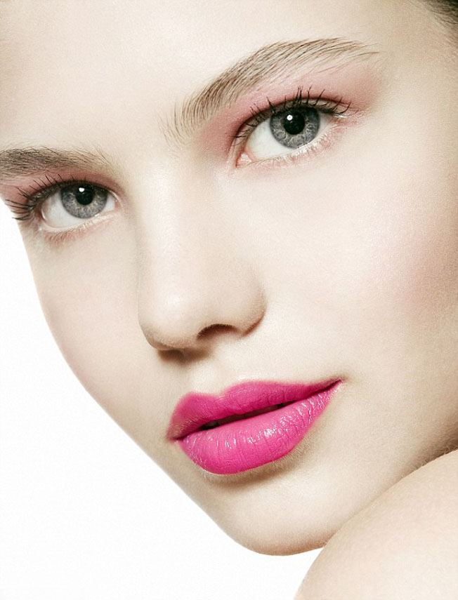 pink makeup lips rose