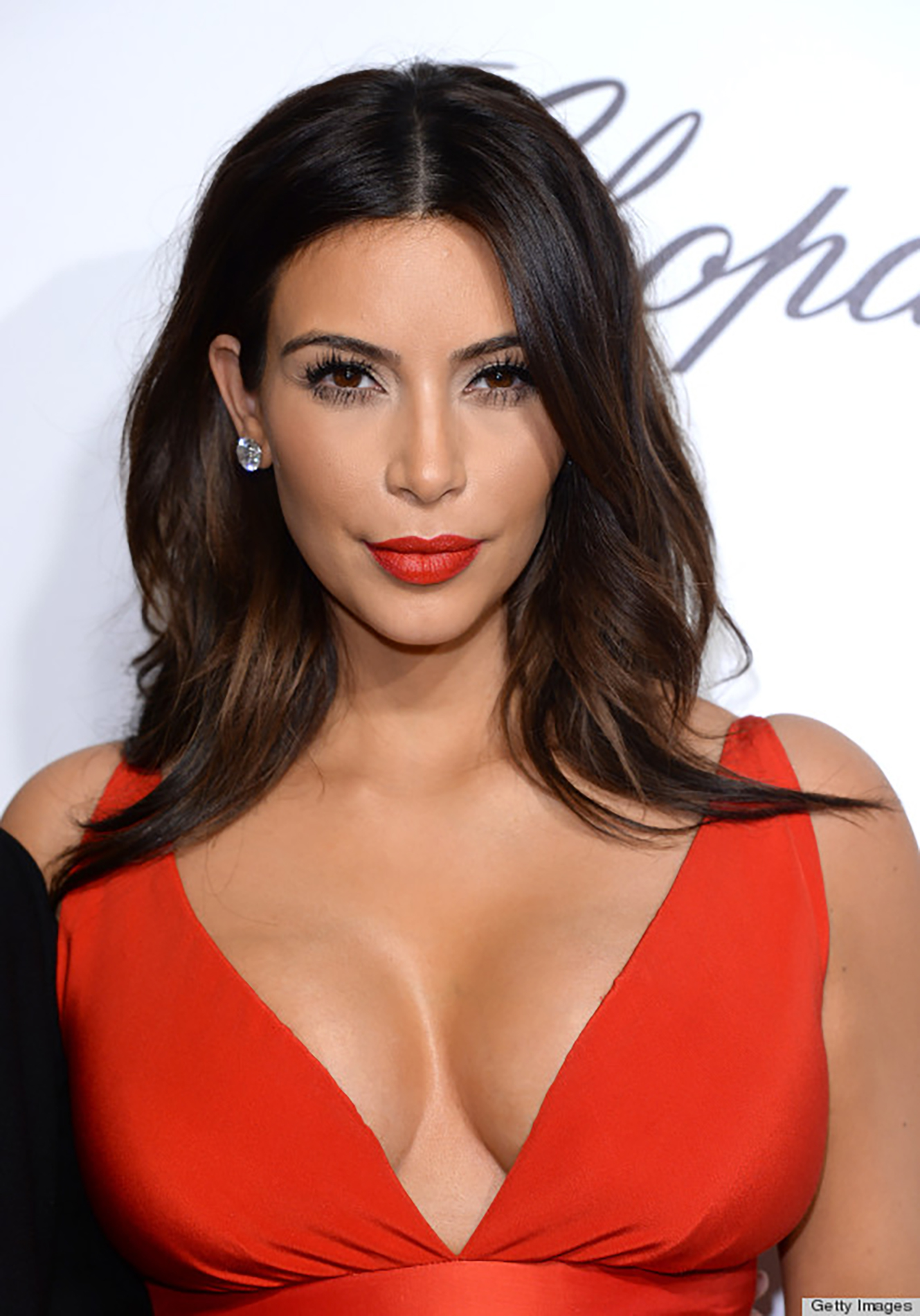 o KIM KARDASHIAN red lips
